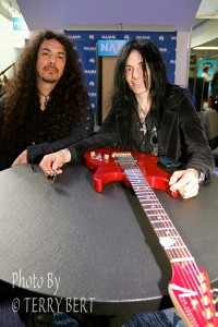 Mike Campese and Bobby, Metal Shock Finland Interview NAMM 2015 pic 2 - smaller size