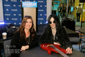 Mike Campese and Sandy storm, Metal Shock Finland Interview NAMM 2015 pic 1 - smaller size