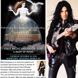 "New Years Eve – ""First Night 2017"" Saratoga Springs"