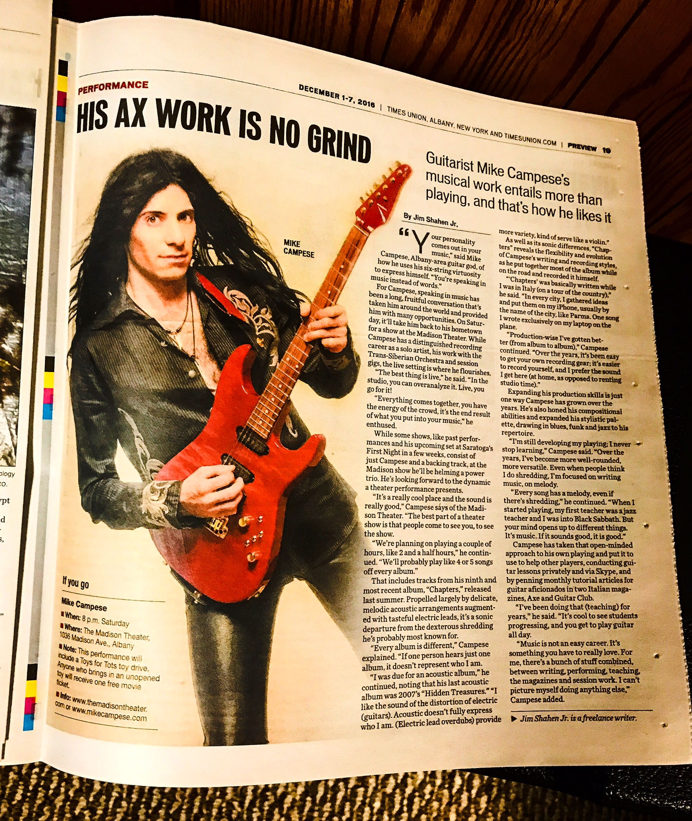 mike-campese-times-union-albany-ny-feature-and-interview-2016