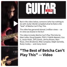 "Guitar World Magazine – Best of ""Betcha Can't Play This"""